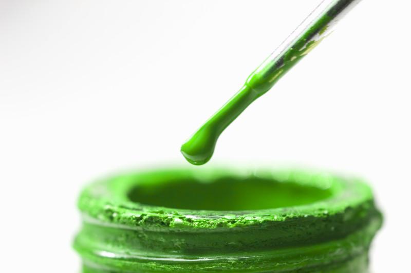 Зеленая краска из со-травы