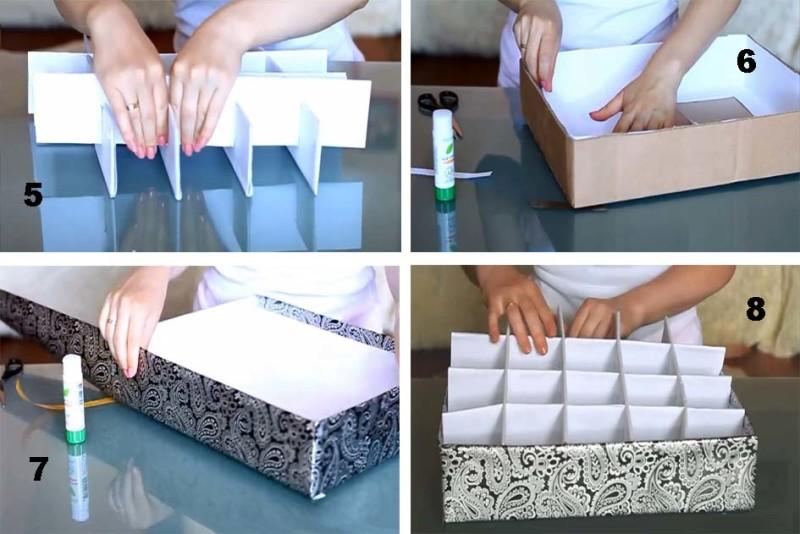 Фото 17: Изготовление разделителей для коробки