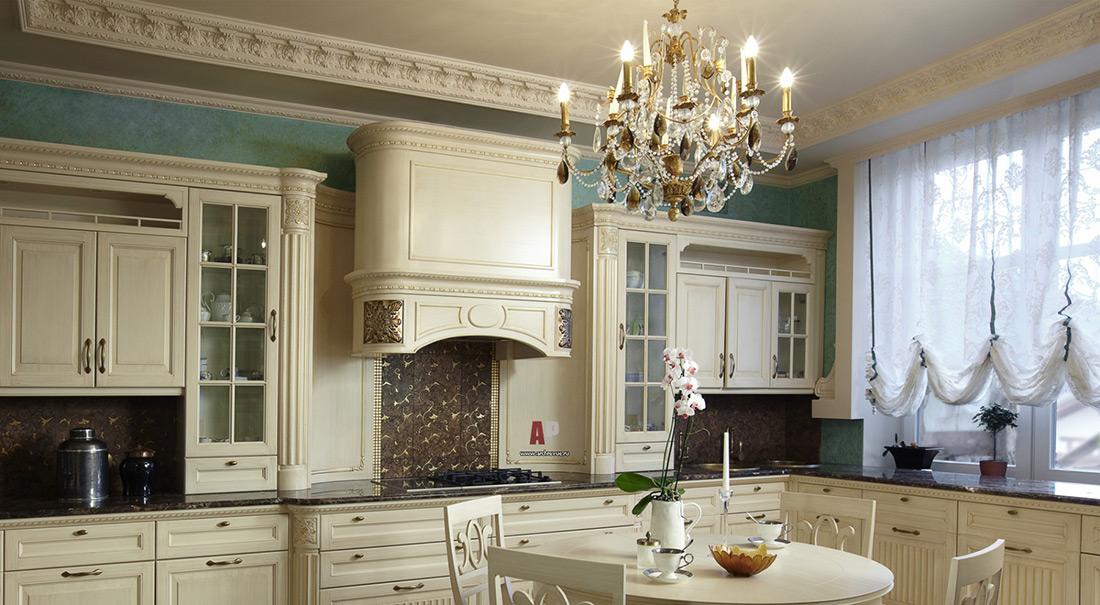 Фото 13: Освещение для кухни в классическом стиле