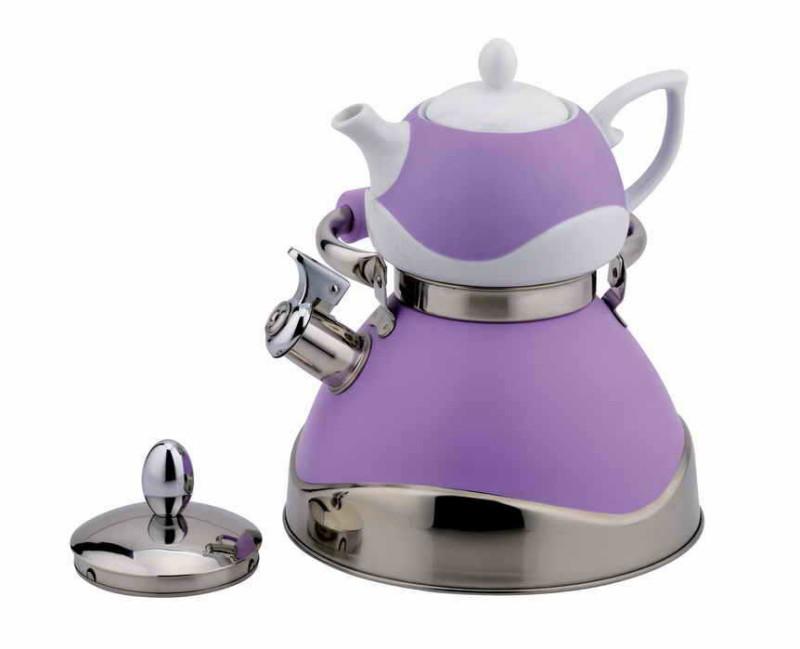 Комплект из чайника со свистком и заварочного чайника
