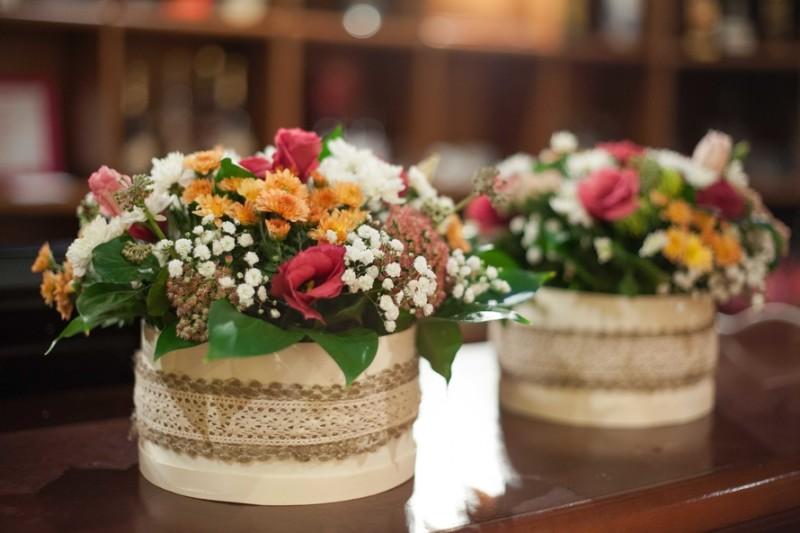 Фото 25: Круглые коробочки для цветов