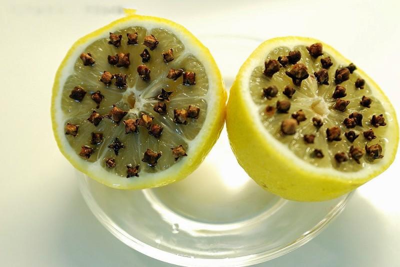 Лимон и гвоздика от мошек