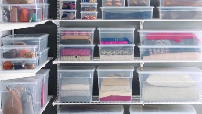 Пластиковые контейнеры для одежды