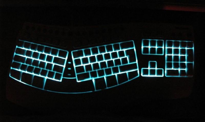 Подсветка просветов клавиатуры