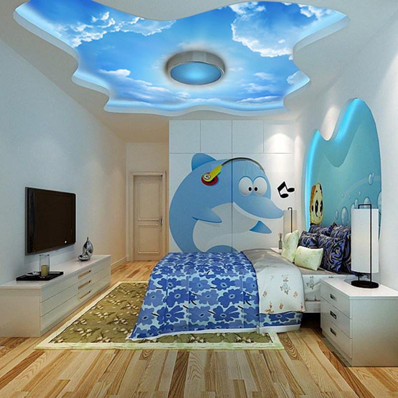 Фото 19: Потолок в виде неба в детской