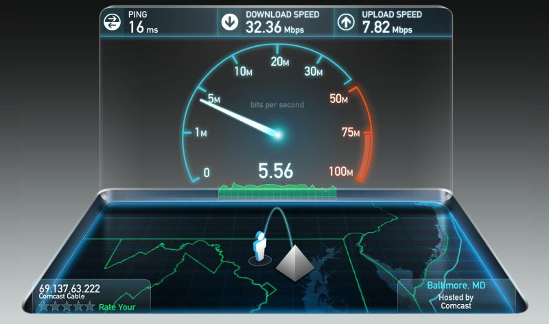 Фото 17: Проверка скорости интернета