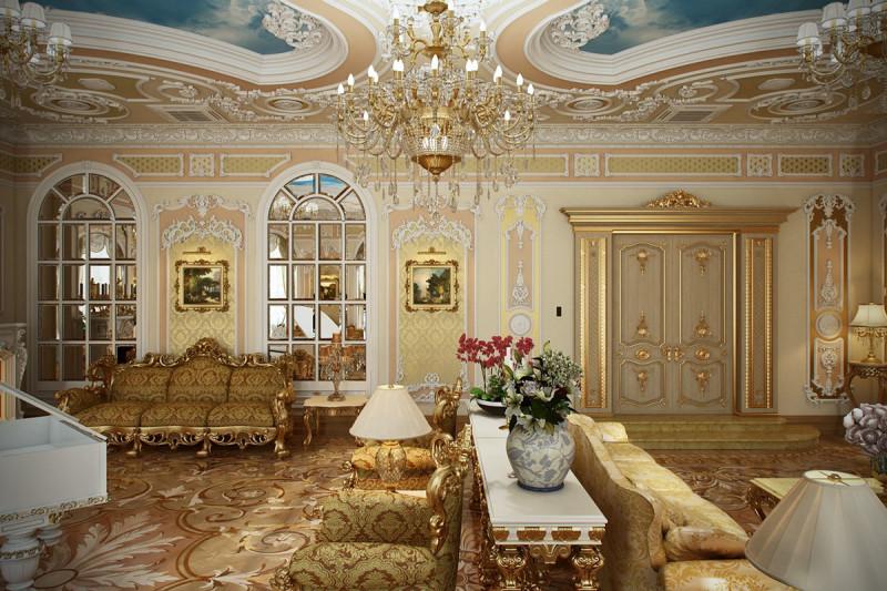 Фото 26: Гостиная в стиле рококо