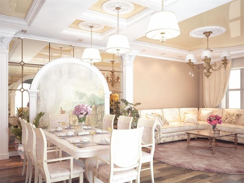 Фото 27: роспись стен в классическом дизайне