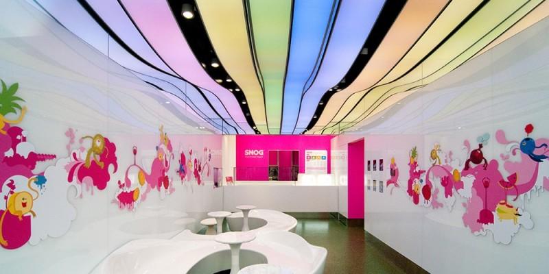 Фото 28: Цветной натяжной потолок в детской