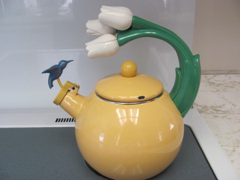 Весенний дизайн чайника со свистком