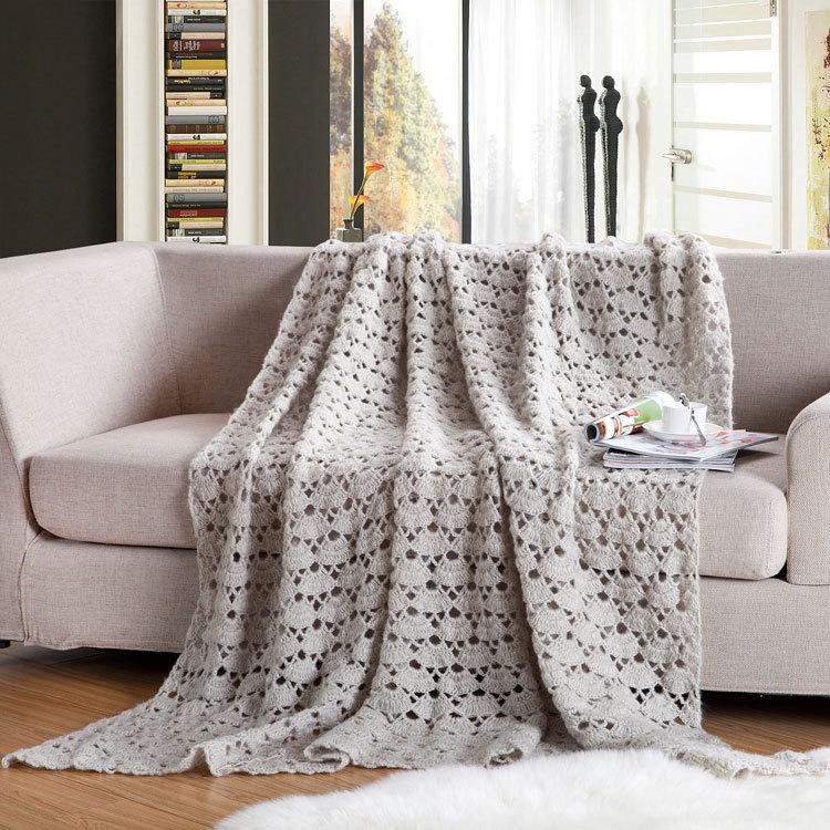 Фото 32: Вязаное ажурное покрывало