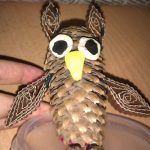 Фото 16: Поделки из шишек сова
