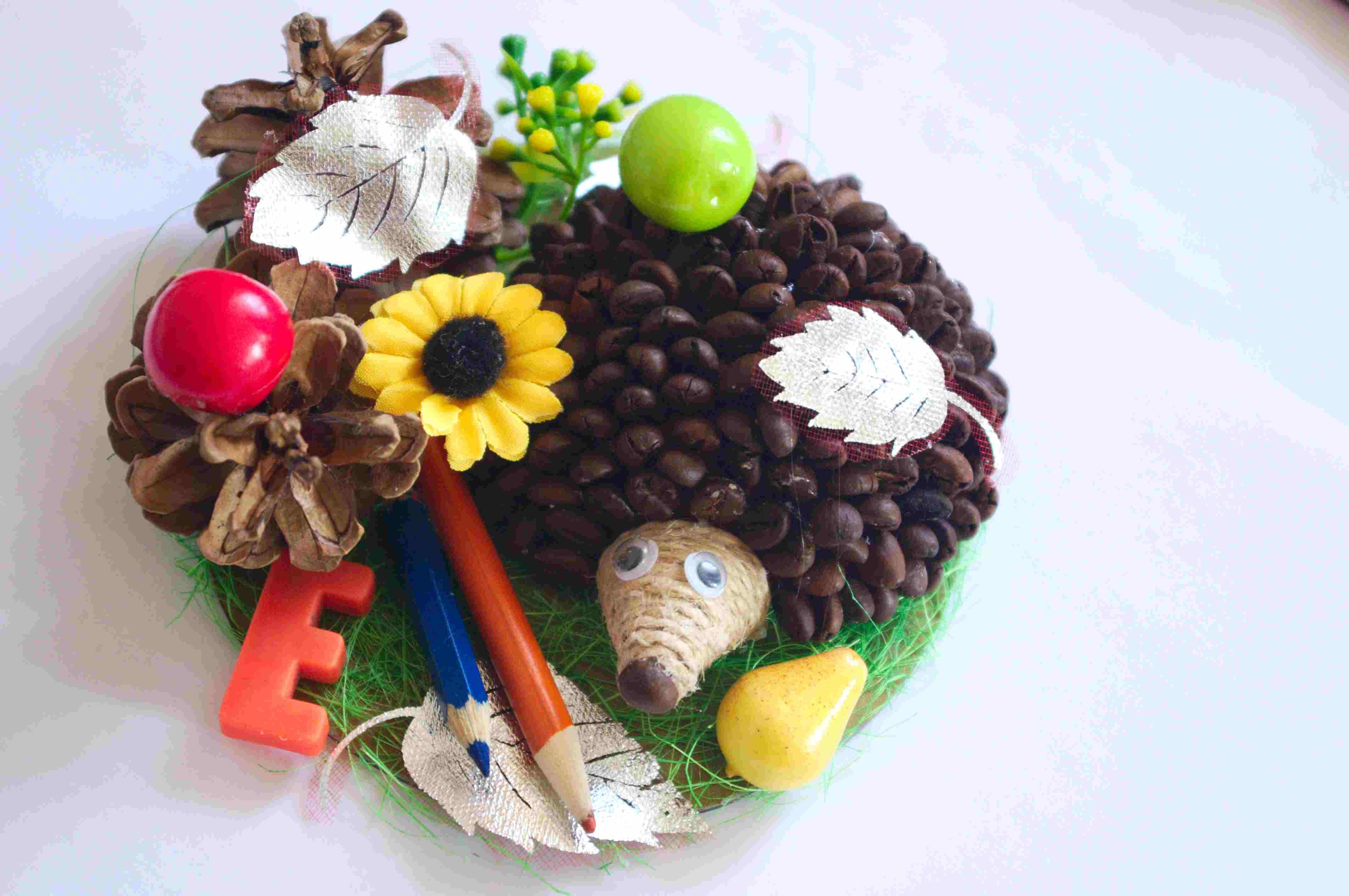 Поделки для детского сада на тему осень ежик