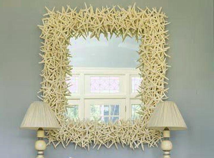 Как красиво задекорировать зеркало своими руками 60