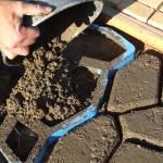 Фото 15: Изготовление тротуарной плитки на месте