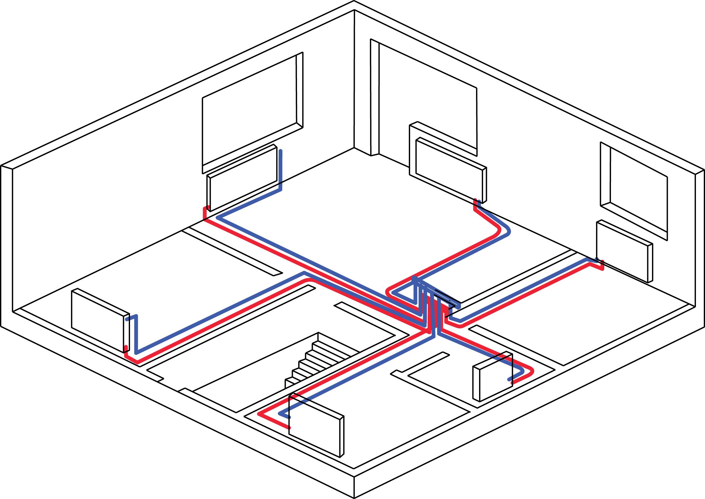 Правильная схема отопления дома