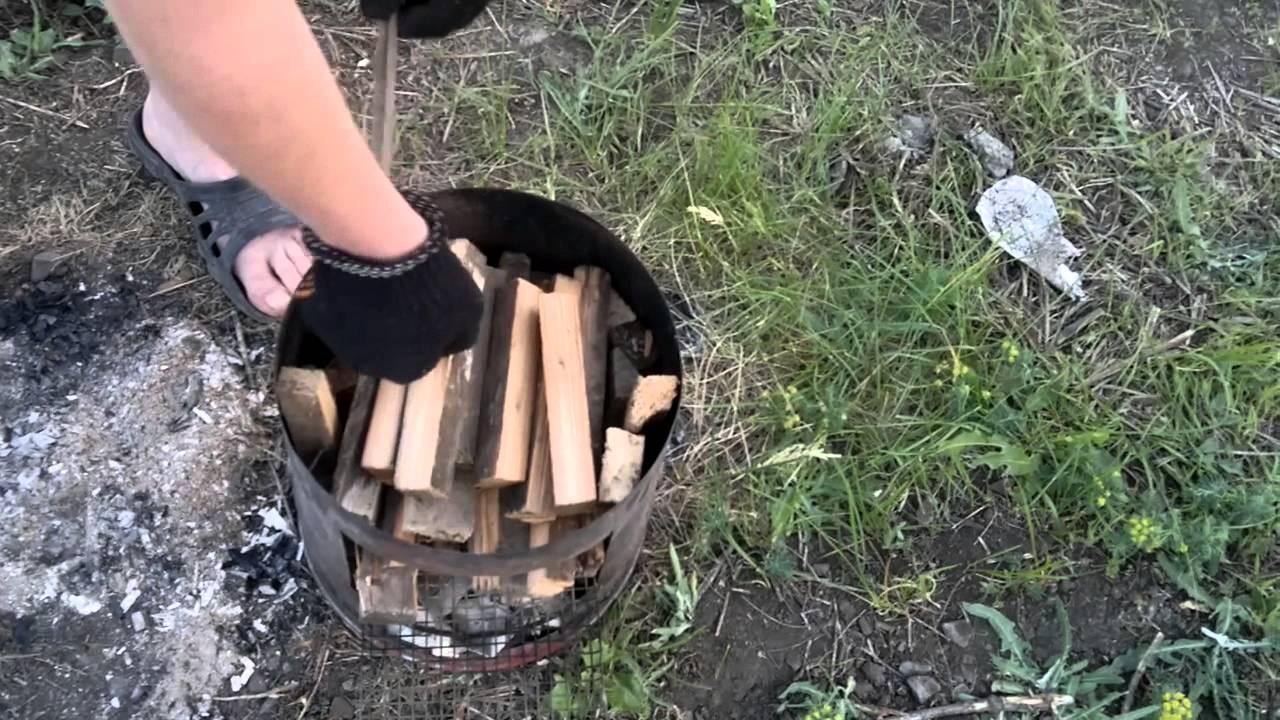 Коптильня на дровах