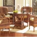 Фото 19: Декор столовой ротанговой мебелью