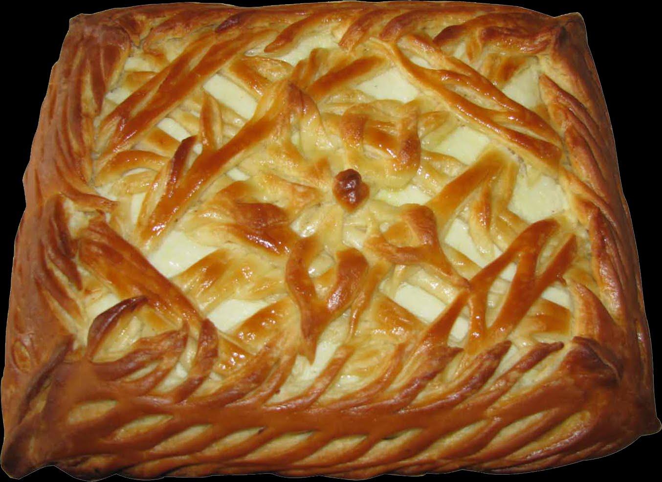 Украшение пирога плетением