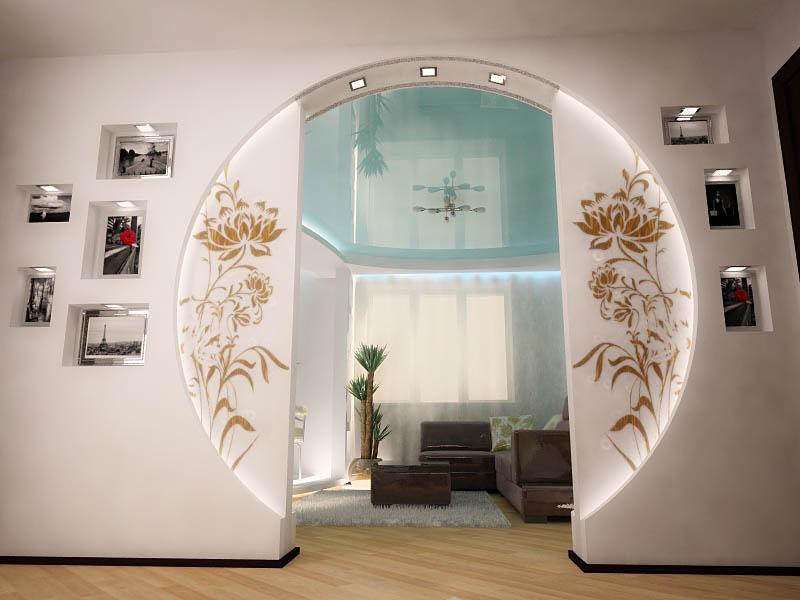 Дизайнерская арка из гипсокартона