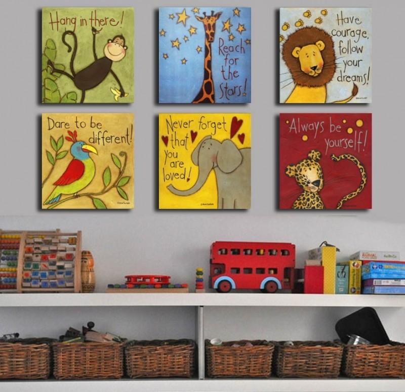 Картины в интерьере детской