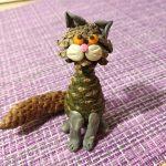 Фото 46: Кошка из шишек