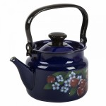 Фото 7: Чайник синий с росписью