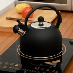 Фото 13: Черный металлический чайник