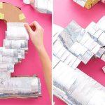 Фото 47: Декор цифры праздничной бумагой