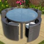 Фото 11: Компактный стол со стульями из техноротанга