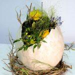 Фото 66: Цветочная композиция в яйце