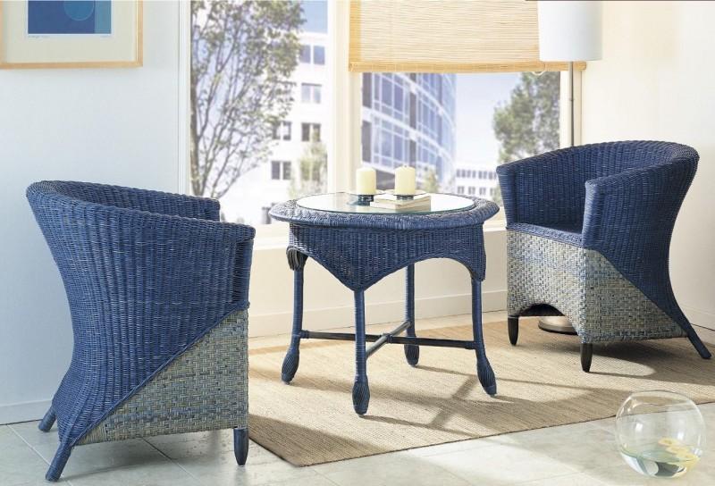 Мебель из цветного ротанга