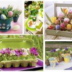 Фото 43: Цветочные композиции к Пасхе с яйцами