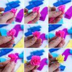 Фото 70: Цветочек из гофрированной бумаги