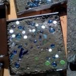 Фото 11: Добавление стекла в раствор тротуарной плитки