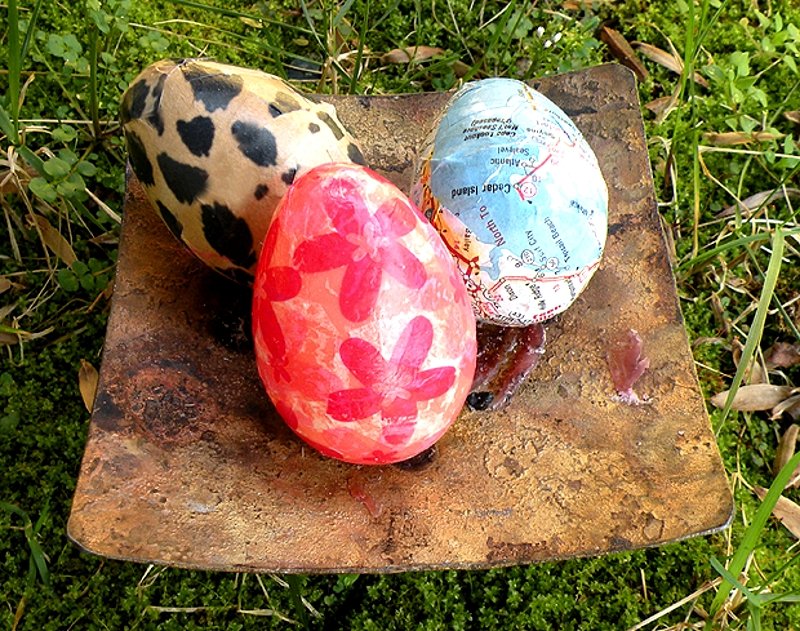 Декупаж пластиковых яиц