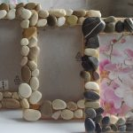 Фото 36: Оформление рамки камнями
