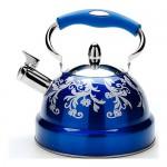 Фото 19: Металлический чайник в стиле гжели