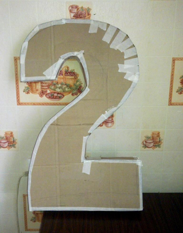 Как сделать двойку из картона видео