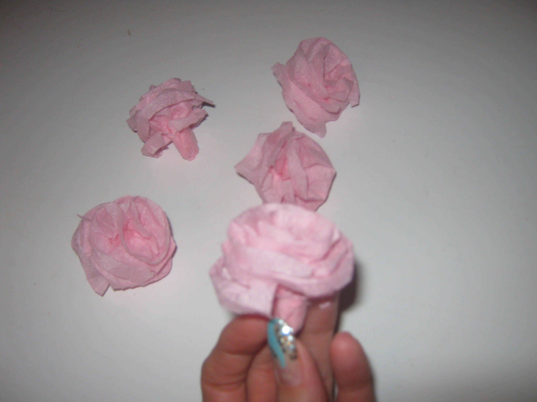 Как сделать цветы на цифру из салфеток своими руками 66