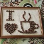 Фото 14: Картина из зерен кофе для кухни