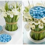 Фото 67: Цветочная композиция для Пасхального стола с яйцами