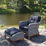 Фото 19: Кресло из искусственного ротанга с пуфом для ног