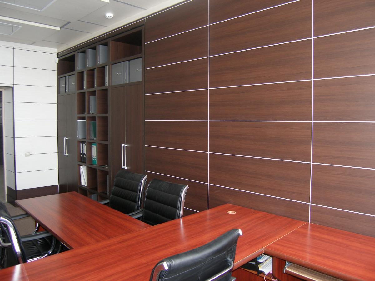 Сочетание мдф панелей в кабинете