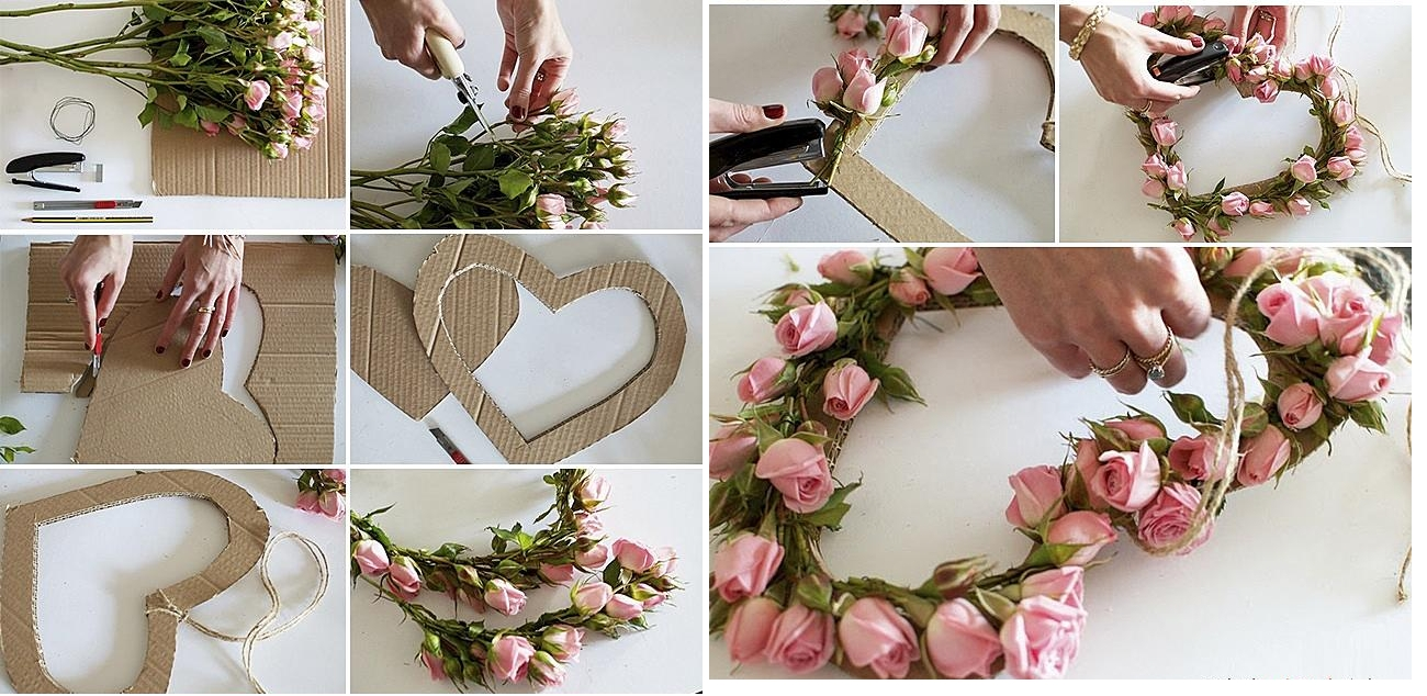 Украшение рамки цветами