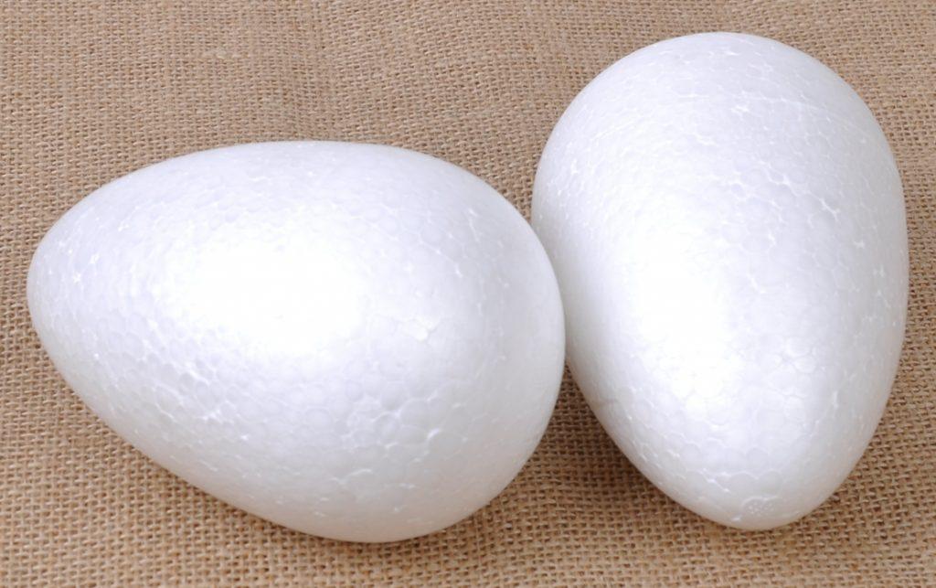 Заготовки из пенопласта для создания пасхальных яиц