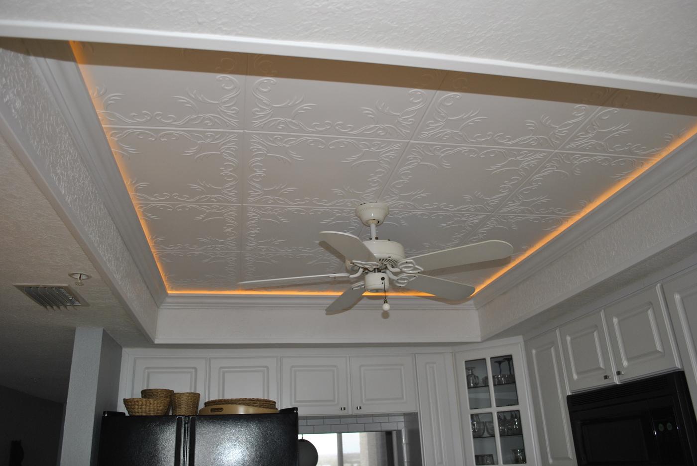 Пример потолка из полистирола
