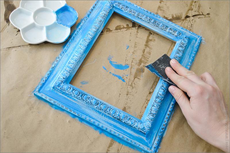 Как покрасить багет для картины своими руками