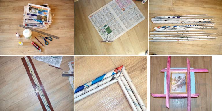 Как сделать газетные трубочки своими руками 58
