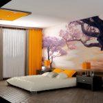 Фото 3: Дизайн спальни стены